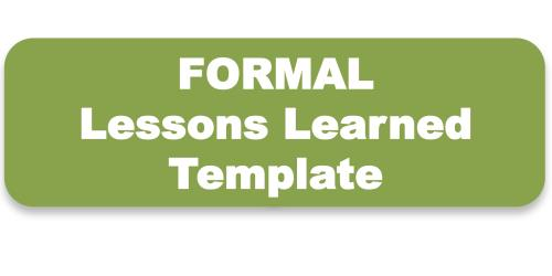 Conducting Lessons Learned-Toolkit  Templates