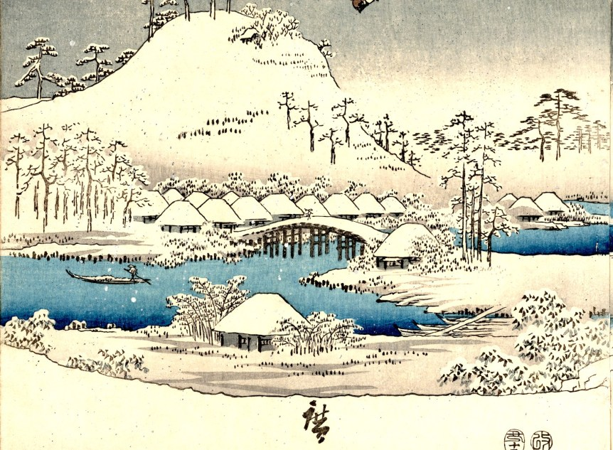 Japanese snow print. Library of Congress
