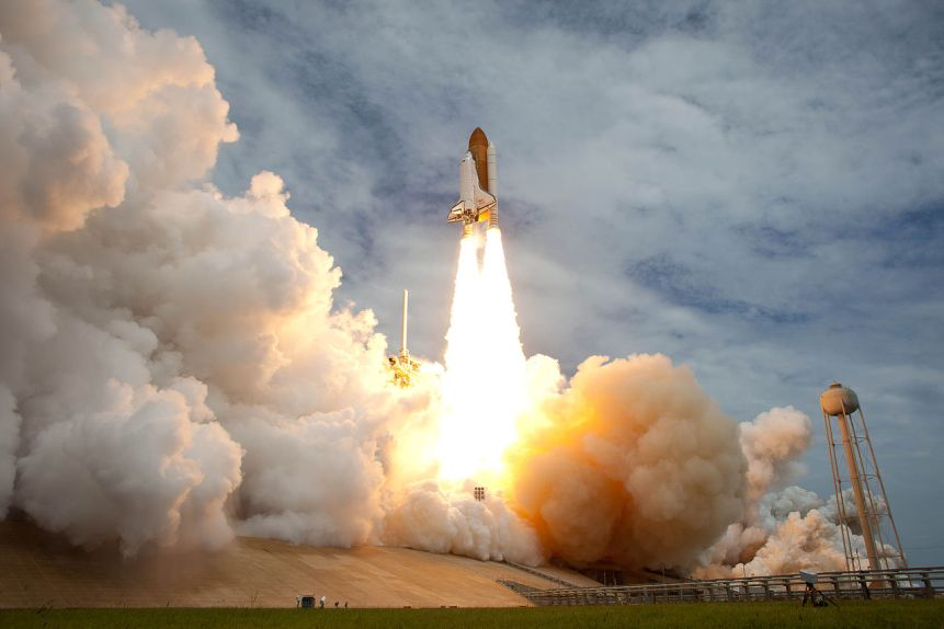 Space Shuttle Atlantis is seen as it launches from pad 39A on Friday, July 8, 2011, at NASA's Kennedy Space Center in Cape Canaveral, Florida.