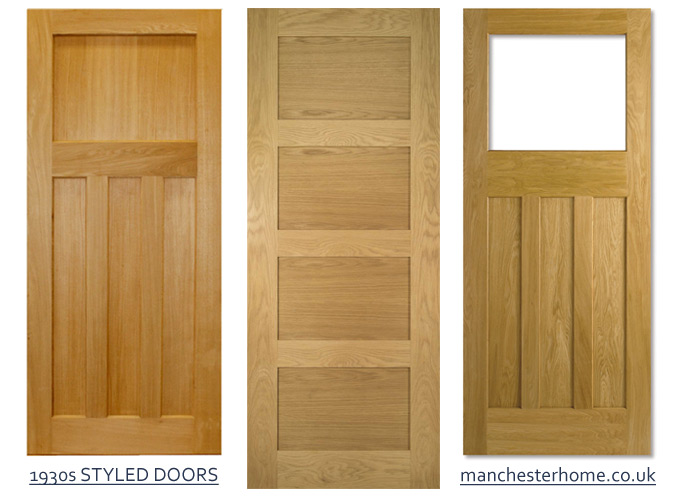 Examples of 1930s styled internal doors