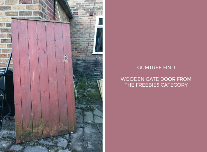 Wooden gate for DIY garden table project