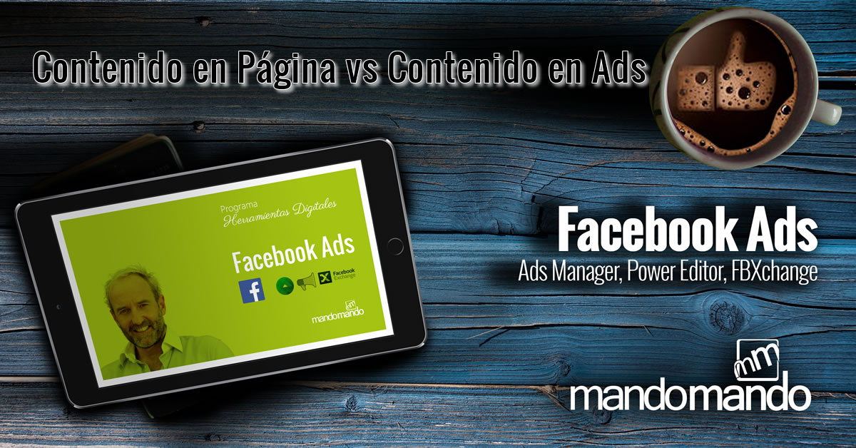 Contenido en Página vs Contenido en Ads