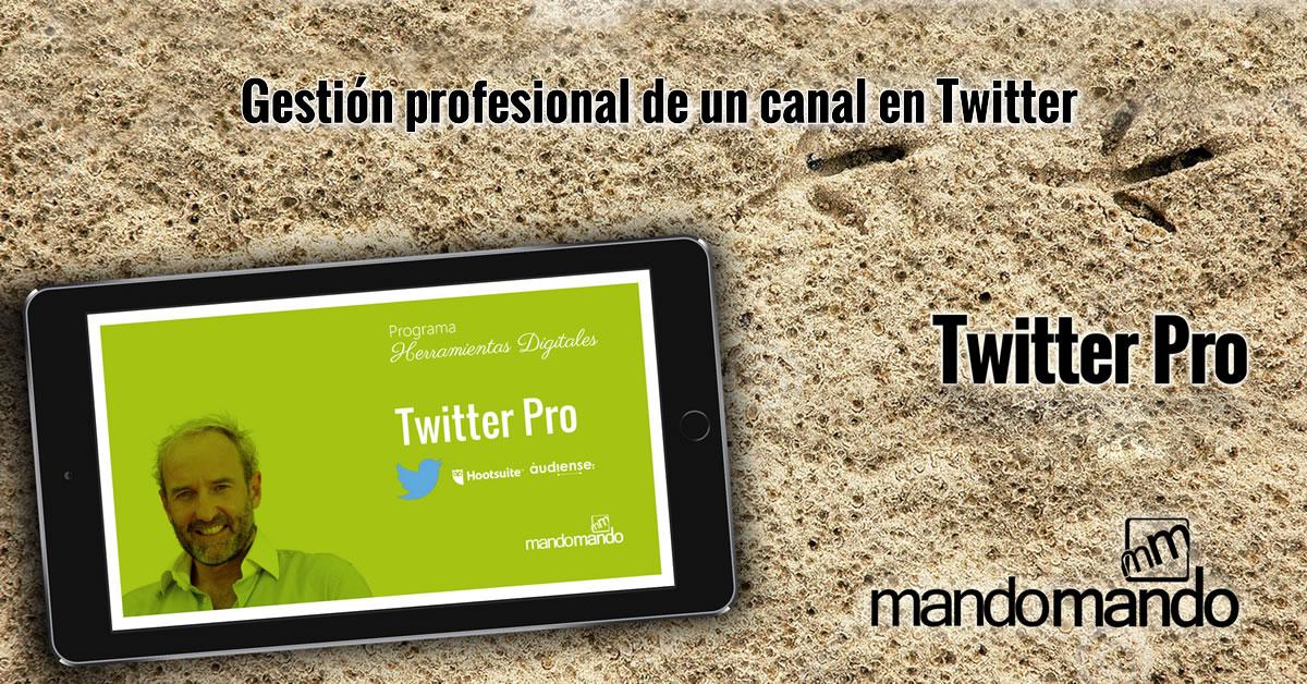 Gestión profesional de un canal en Twitter