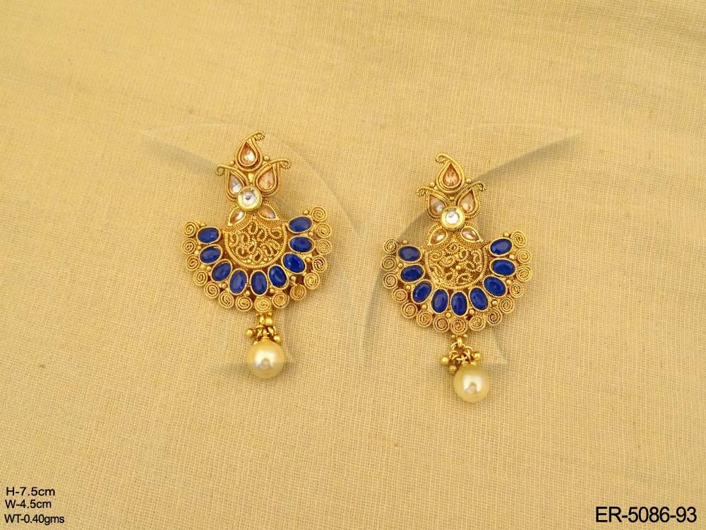 semi precious stone half circle necklace set