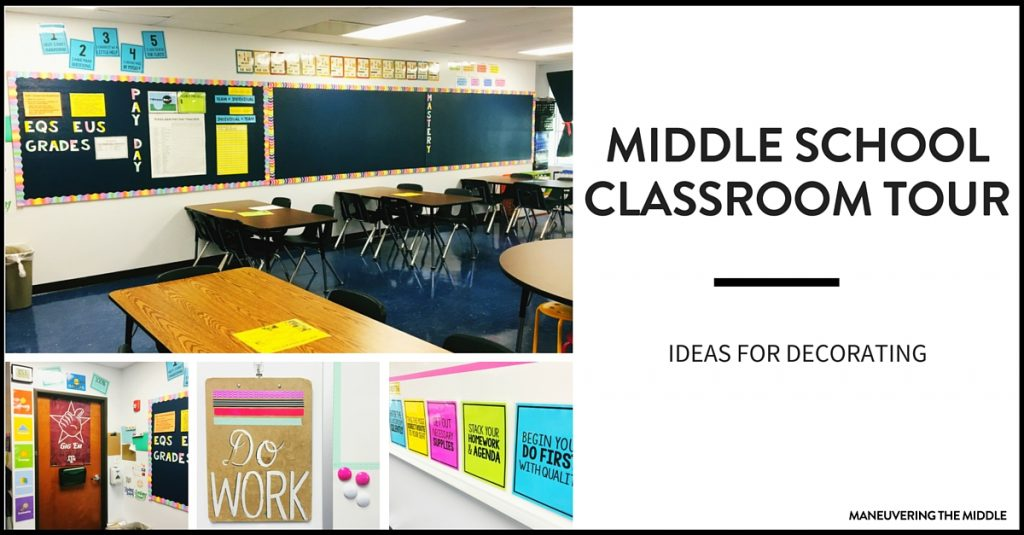Middle School Classroom Tour - Maneuvering the Middle