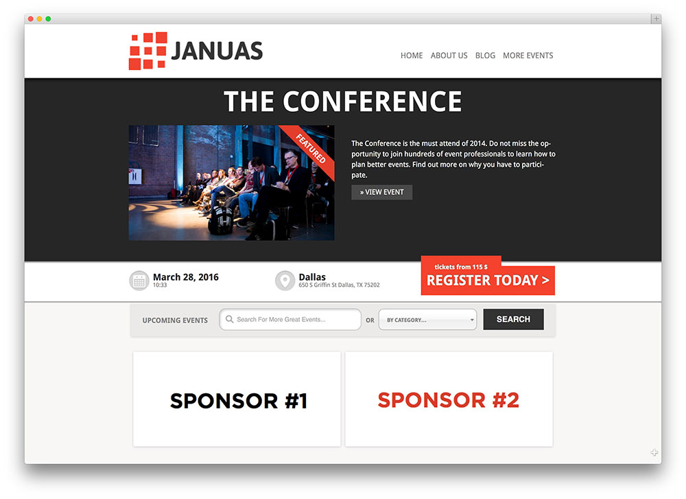 Event Listing Website Template best html5 responsive website - podcast website template