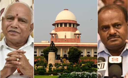 Image result for SC refuses to stop Yeddyurappa swearing in
