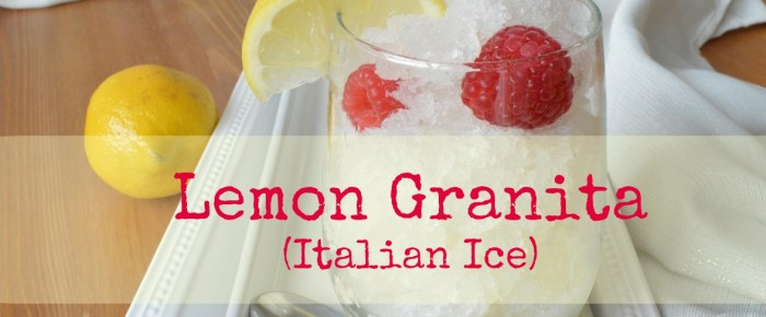 Paleo Lemon Granita (Italian Ice)
