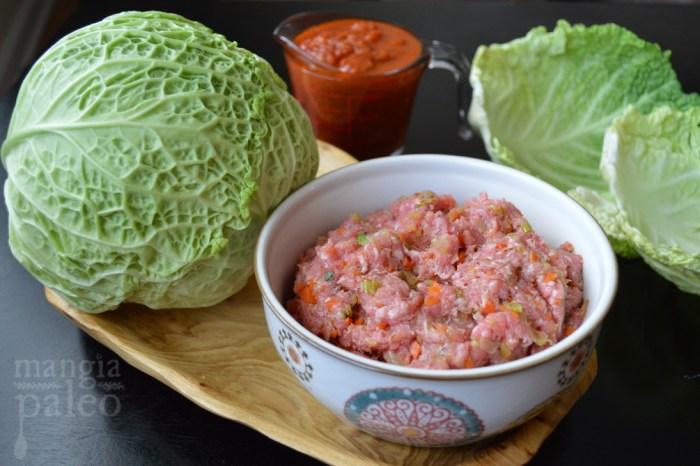 involtini di cavolo paleo italian cabbage roll