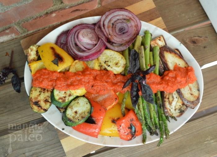 summer grilled italian vegetable platter mangia paleo