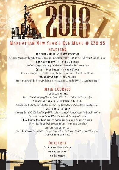 New Year\u0027s Eve Menu - Manhattan Bar and Grill