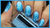 Check Out This Gorgeous Frozen Inspired Nail Art Design!