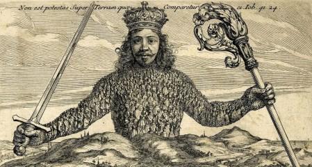 Den kjente forsiden av Leviathan av Thomas Hobbes.