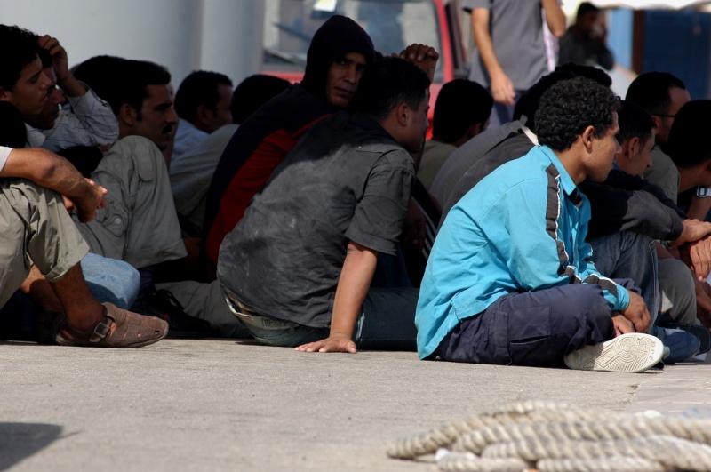 Flyktninger i Lampedusa i Middelhavet. Foto: Noborder Network/Flickr