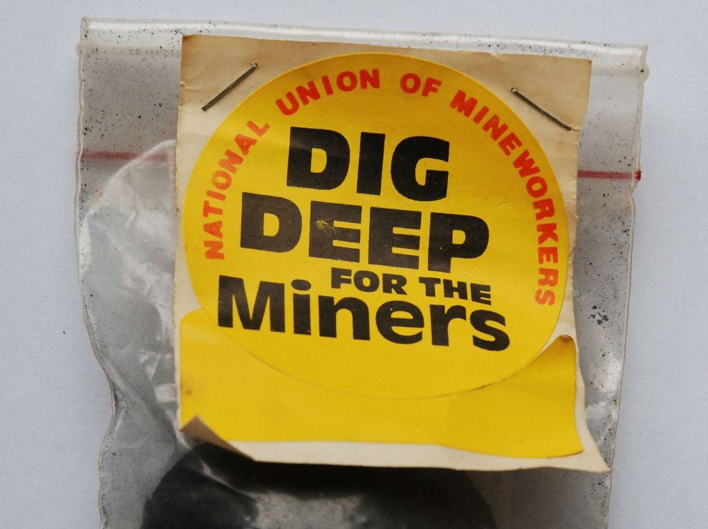 Kampanje for streikende gruvearbeidere. Foto: Wikimedia Commons