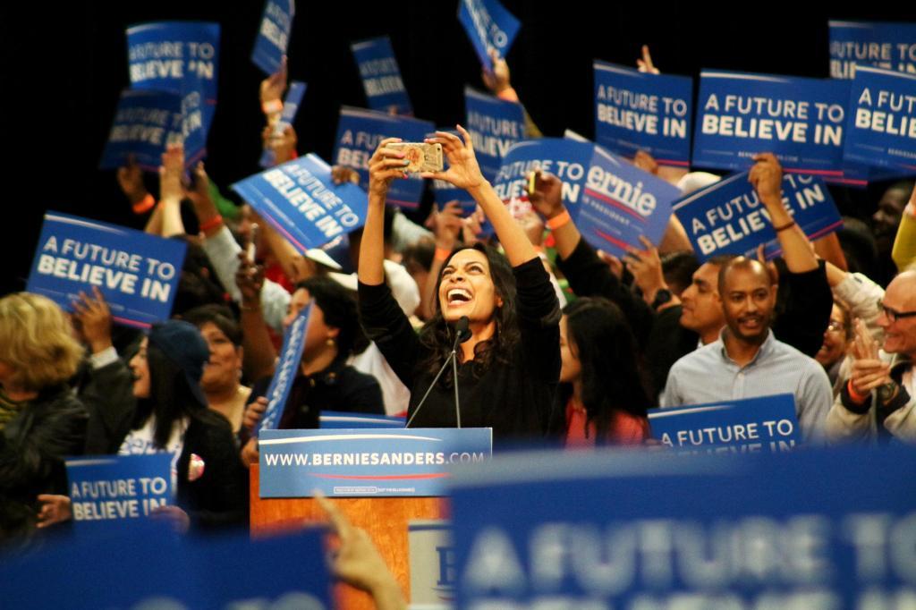 En Bernie Sanders-rally. Foto: Matthew Baldwin