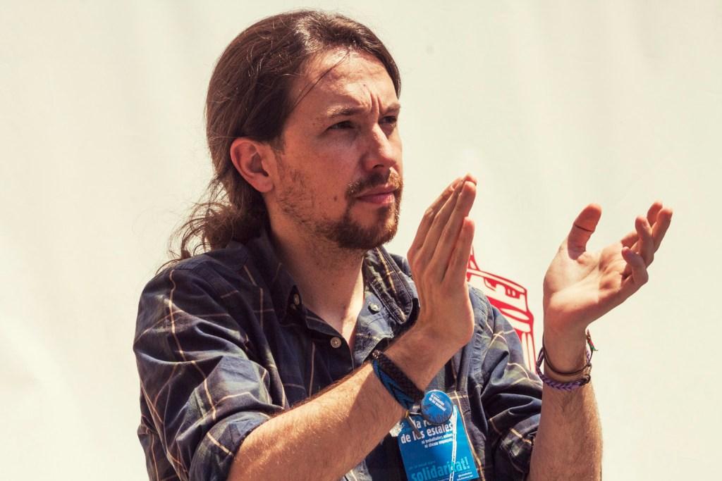 Podemos-leder Pablo Iglesias. Foto: Barcelona en Comú