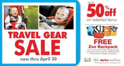 Baby Company Travel Gear Sale April 2013