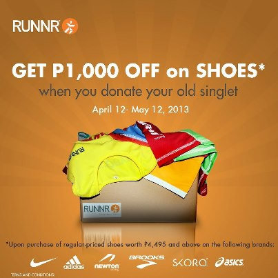 Runnr's Get Php 1000 OFF on Shoes Promo April - May 2013