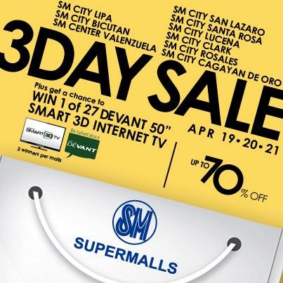 SM Supermalls 3-Day Sale April 2013