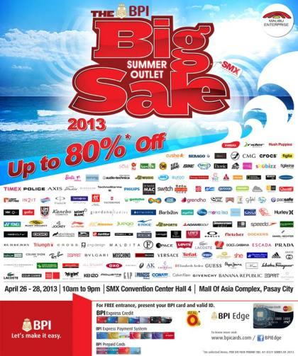 The Big Summer Outlet Sale @ SMX Convention Center April 2013