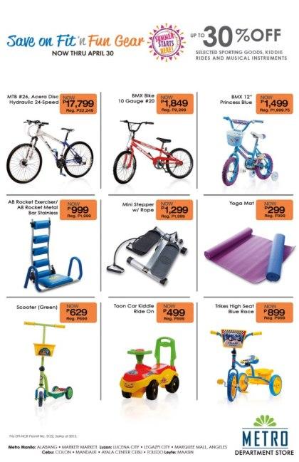 Metro Department Store Fit n Fun Gear Sale April 2013