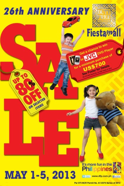 Duty Free Philippines Sale May 2013