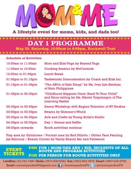 Mom & Me Bazaar Day 1 Programme May 2013