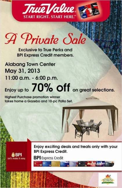 True Value Private Sale @ Alabang Town Center May 2013