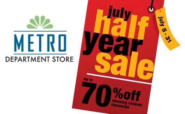 Metro Department Store July Half Year Sale July 2013