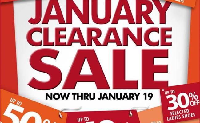 Metro Department Store Clearance Sale January 2014