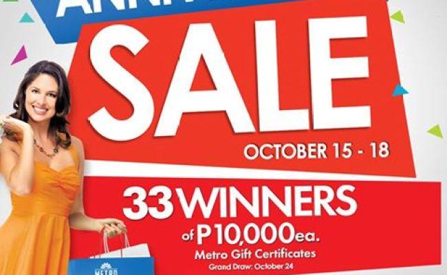 Metro Department Store And Super Metro Anniversary Sale