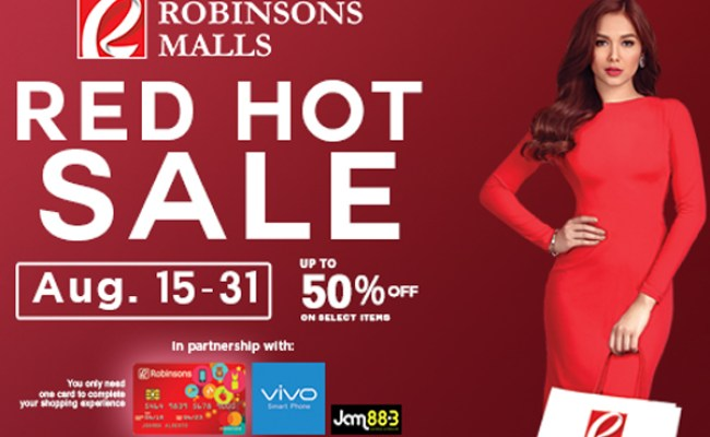 Robinsons Malls Red Hot Sale Aug 2018 Manila On Sale