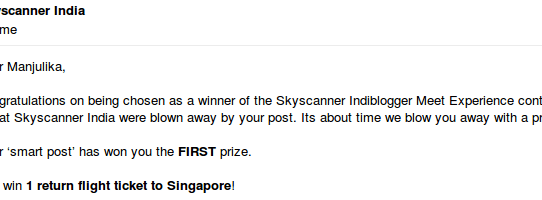 Blogging took me to Skyscanner's Office, Singapore