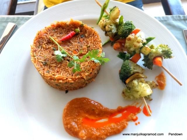 Veg Nasi Goreng, Bali, Vizag, Lunch at Vista, Restuarant Review, Travel