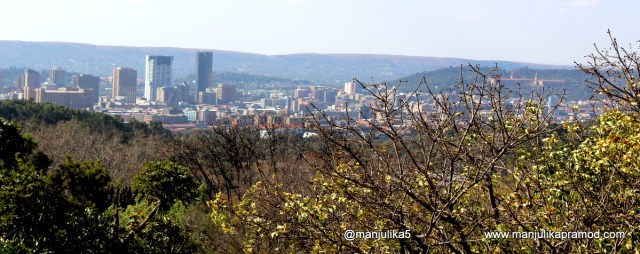 Clicked from the top of Voortrekker- The 40metre tall granite monument is located on top of a hill overlooking Pretoria in the middle of the 240 hectare Voortrekker Monument Nature Reserve.