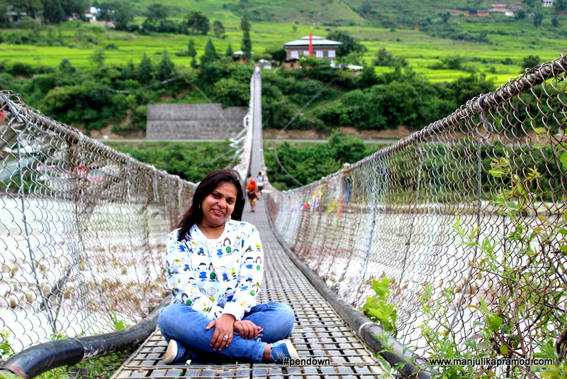Bhutan Pictures, Suspension Bridge