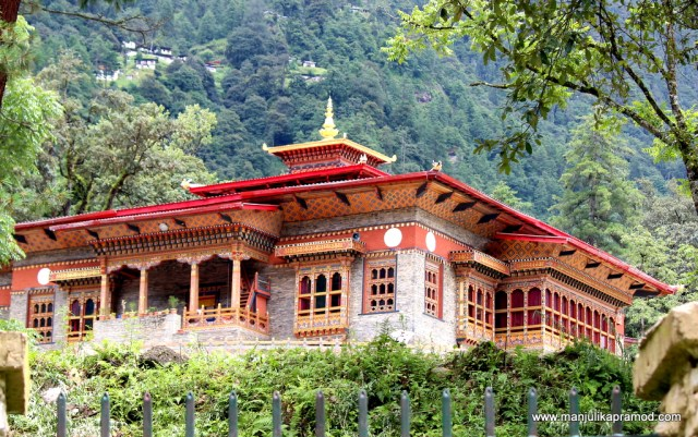 Picture of Red Bhutanese Building