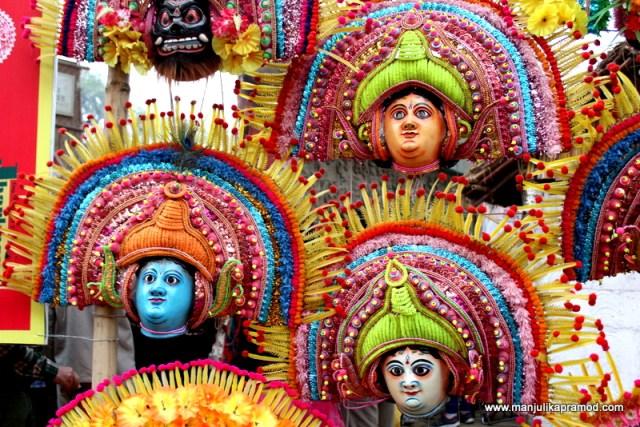 Chaau masks, Surajkund Mela, West Bengal, Jharkhand