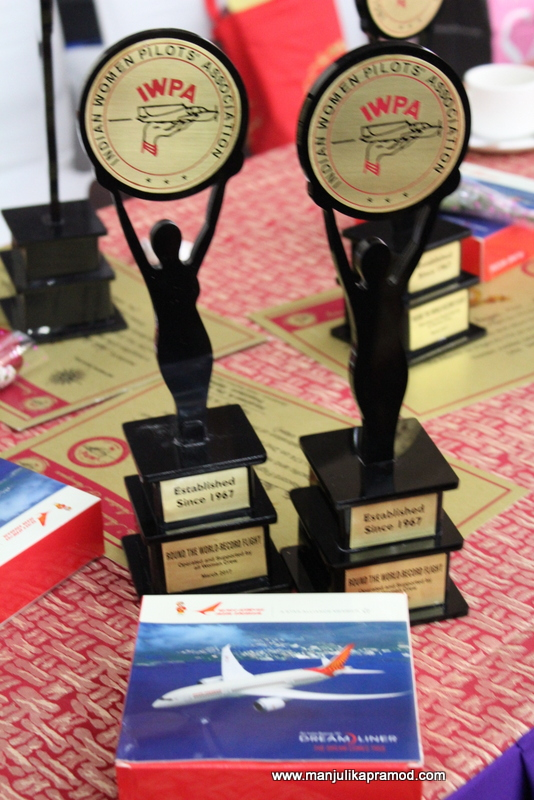 Felicitations for ladies in the aviation sector