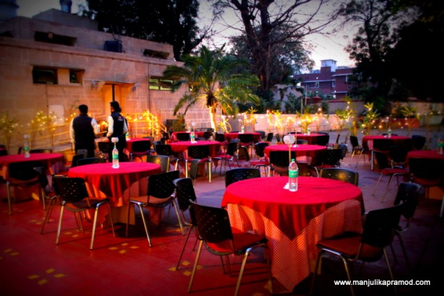 The open air dining option in Delhi
