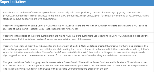 #CelebratingSuper, Vodafone. Delhi,