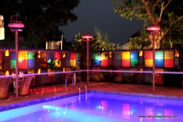 The pool in the night