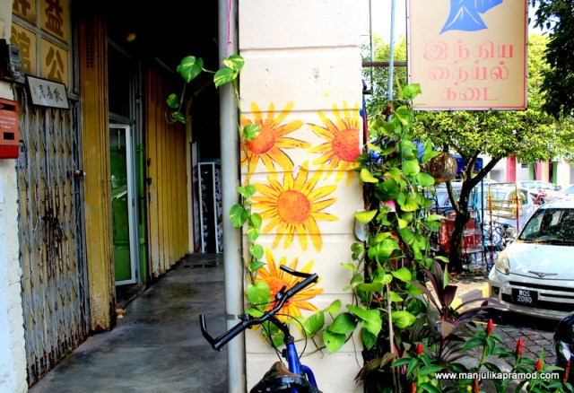 Wall art, pillar, Malaysia