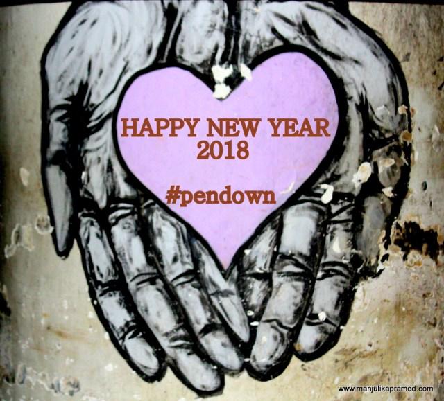 Happy New Year, 2017, 2018, Pendown