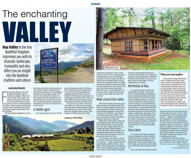 Where is Haa Valley, Bhutan, Itinerary