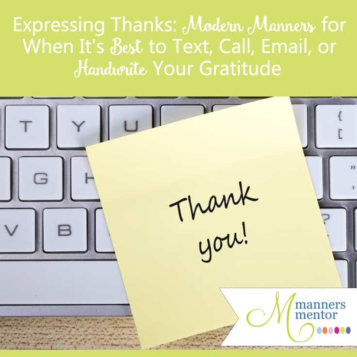 Thank you Notes When To Send a Handwritten One, When It\u0027s OK to