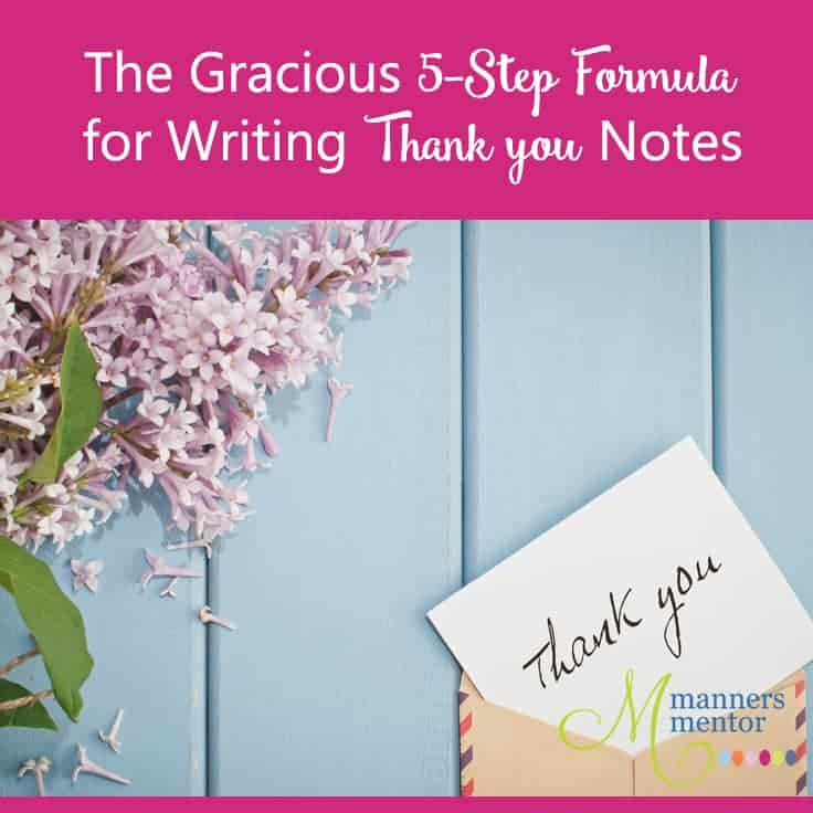 Formula for Writing Thank You Notes