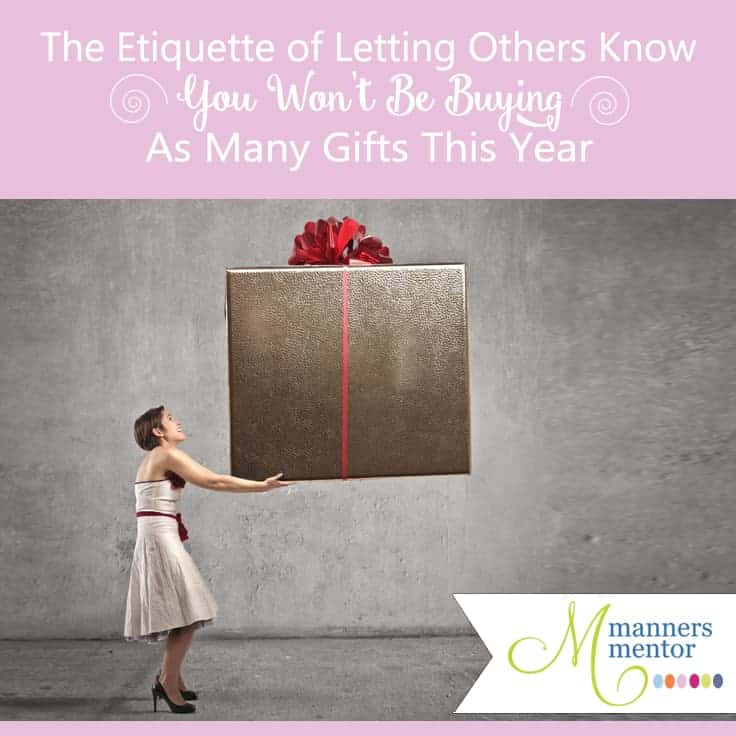 How to Graciously Let Others Know You Won\u0027t Be Buying Them a Gift