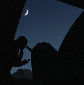 L'observatoire et la lune